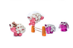 Plasticinewereld Stock Afbeeldingen