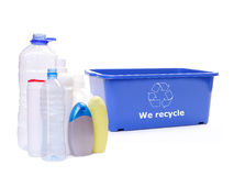 Plastics disposal Stock Image