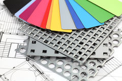 Plastics, perforated metal & plan Royalty Free Stock Photos