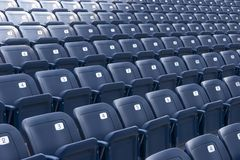 Plastics seats Royalty Free Stock Photos