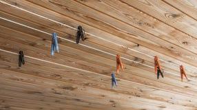 Plastiek gekleurde wasknijpers Stock Fotografie