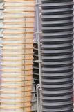 Plastiek golfpijp, deel of detail van industriële machines royalty-vrije stock foto's