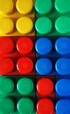 Plastik blockt Hintergrund Lizenzfreies Stockfoto