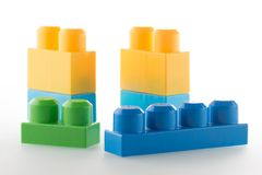 Plastik-bloks stockfotos