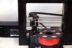 Plastik des Druckers 3d Druckfür die Druckerkoralle Stockfotografie