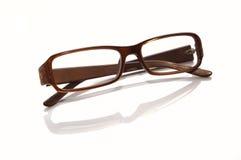 Plastik-eingefaßte Brillen lizenzfreie stockfotos
