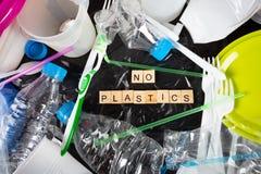 Plastik für die Wiederverwertung stockfotos