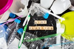Plastik für die Wiederverwertung lizenzfreies stockfoto