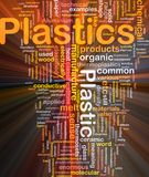 Plastik-Hintergrundkonzeptglühen Lizenzfreie Stockbilder