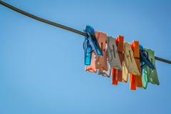 Plastik kleidet Klipp Lizenzfreies Stockbild