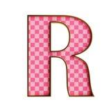 Plastik lokalisierte rosa Alphabet cheker 3d Illustration lizenzfreie abbildung