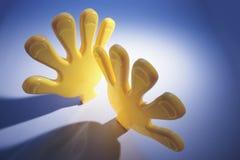 Plastik-Toy Hands lizenzfreies stockbild