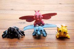 Plastik-Toy Insects Lizenzfreie Stockfotos