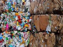 Plastik und Pappen Lizenzfreie Stockfotos