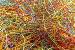 Plastik von den Kabeln stockfotografie