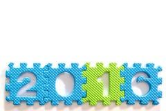2016 Plastikalphabetbuchstabe eingestellt für Neujahr Lizenzfreie Stockfotos