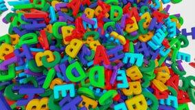 Plastikalphabetbuchstaben auf weißem Hintergrund lizenzfreies stockbild