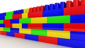 Plastikbau auf weißem Hintergrund Stockbild