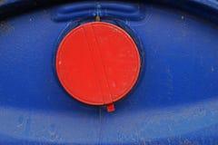Plastikbehälterkappe, Sicherheitsverschluß für 200 Liter Behälter für liqudid Chemikalie Lizenzfreies Stockbild