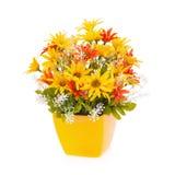 Plastikblume für Dekoration stockfotografie