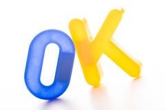 Plastikbuchstaben lokalisiert auf weißem Hintergrund Lizenzfreies Stockbild