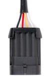 Plastikc$vierkontakt elektrischer Verbinder für das Auto stockbild