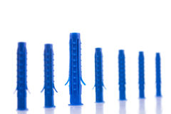 Plastikdübel Lizenzfreie Stockbilder