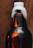Plastikflasche Bier mit Phiolen Lizenzfreies Stockfoto