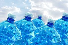 Plastikflaschen für die Wiederverwertung lizenzfreies stockfoto