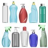 Plastikflaschen stellten 6 ein Stockbild