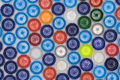 Plastikflaschenkapseln Stockfotografie