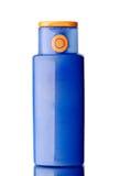 Plastikflaschenleerzeichen Lizenzfreie Stockfotos