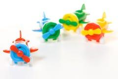 Plastikflugzeugspielzeug Stockfoto