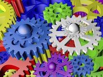 Plastikgänge in den verschiedenen Farben Lizenzfreie Stockbilder