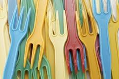 Plastikgabeln Lizenzfreie Stockfotos