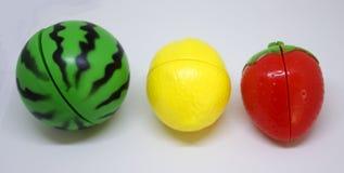Plastikgemüse und Früchte Stockbild