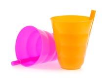 Plastikglas Stockbild