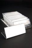 Plastikhalterungen für Preise Lizenzfreies Stockbild