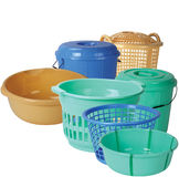 Plastikküche-Ausrüstungen Lizenzfreies Stockbild