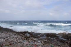 Plastikküstenlinie Kaiman-Insel Stockbilder