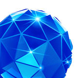Plastikkorn vernarrt mit buntem dreidimensionalem geometrischem Gegenstand stock abbildung