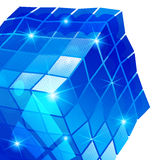 Plastikkorn vernarrt mit buntem dreidimensionalem geometrischem Gegenstand lizenzfreie abbildung