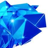 Plastikkorn vernarrt mit buntem geometrischem Gegenstand 3d lizenzfreie abbildung