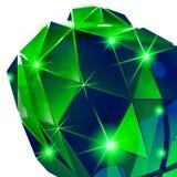 Plastikkorn vernarrt mit bunter geometrischer dimensionalschablone, vektor abbildung