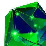 Plastikkorn vernarrt mit bunter geometrischer Schablone 3d vektor abbildung