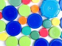Plastikoberteile und Kappen Stockfoto