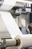 Plastikowa Biała Pusta druk karmy Flexo przemysłu druku rolka Proc zdjęcie stock