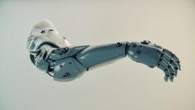 Plastikowa brawny cyber ręka Zdjęcie Stock