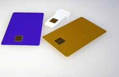 Plastikowa elektroniczna karta Zdjęcia Royalty Free