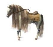 Plastikowa końska realistyczna zabawka - biały tło odizolowywający Obrazy Stock